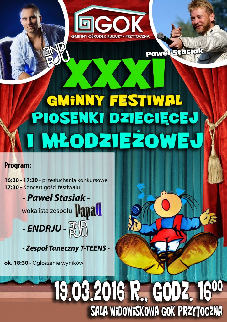 XXXI Gminny Festiwal Piosenki w Przytocznej