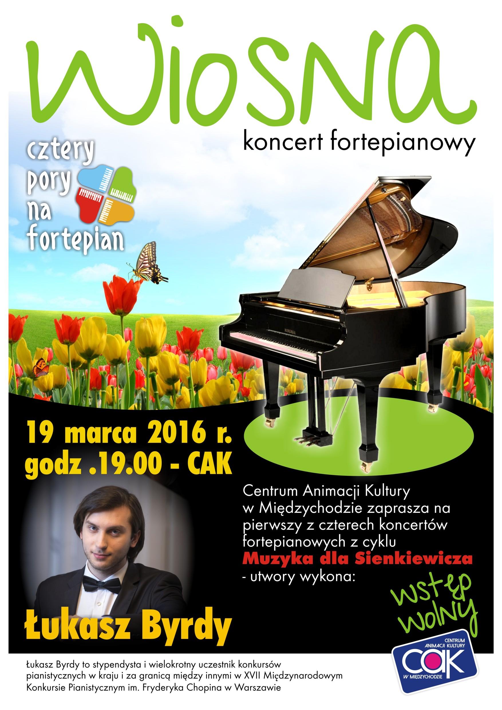 Koncert fortepianowy w Międzychodzie – 19/03/2016