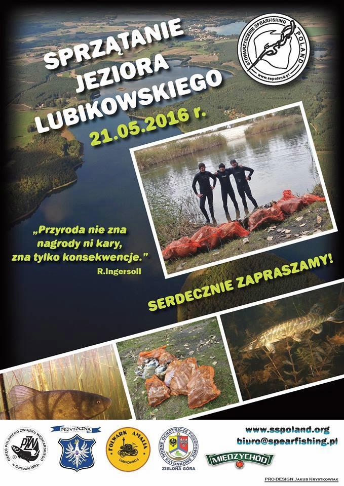 Sprzątanie jeziora Lubikowskiego