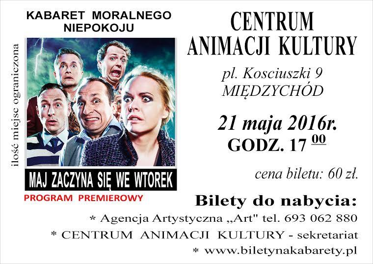 MAJ ZACZYNA SIĘ WE WTOREK – premiera kabaretu w Międzychodzie