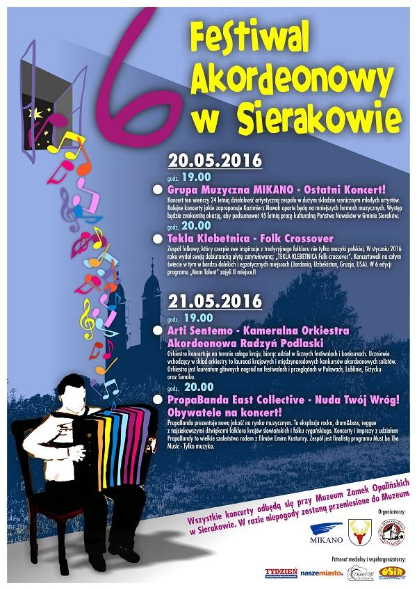 Festiwal Akordeonowy w Sierakowie