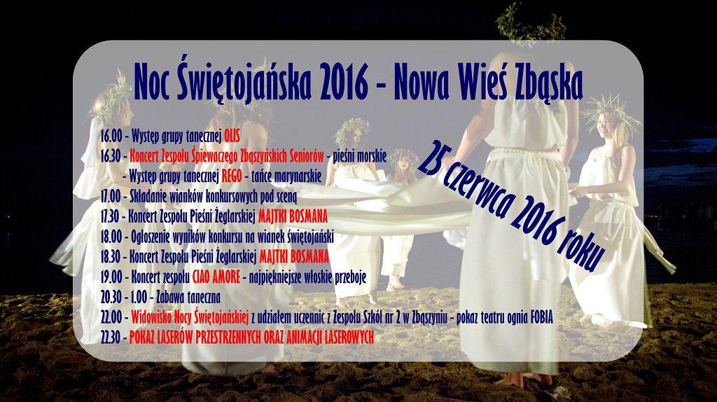 25 czerwca 2016 r. zapraszamy do Nowej Wsi Zbąskiej na Noc Świętojańską 2016