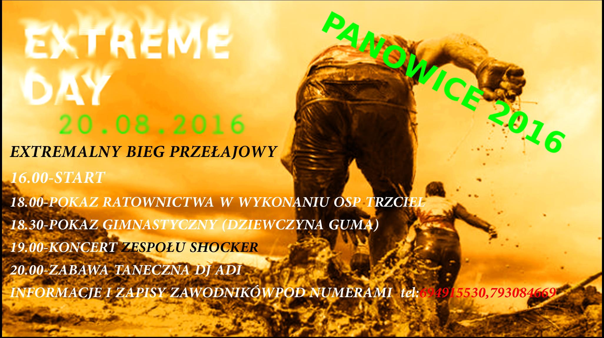 20 sierpnia zapraszamy do Panowic na Extremalny Bieg Przełajowy