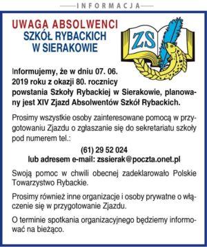 7 czerwca 2019 roku – 80 rocznica powstania Szkoły Rybackiej w Sierakowie