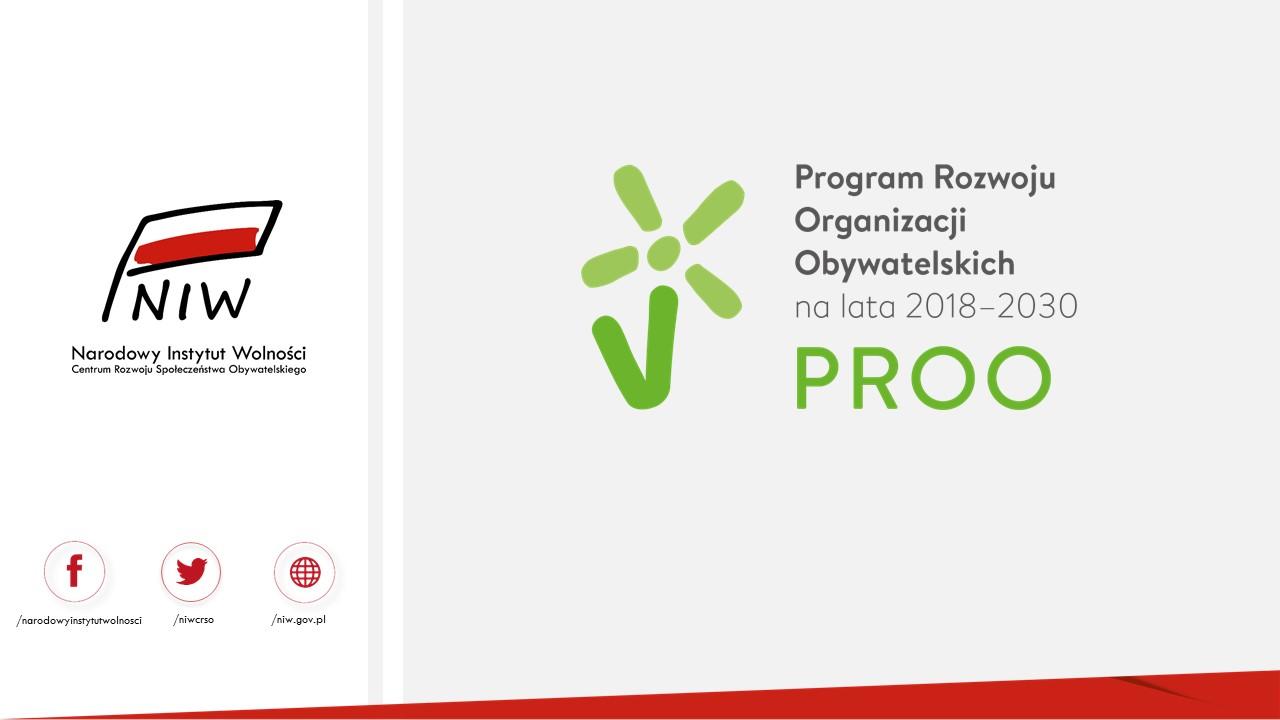PROO 2019-2022 zaproszenie do wspólnego opracowania założeń projektu.