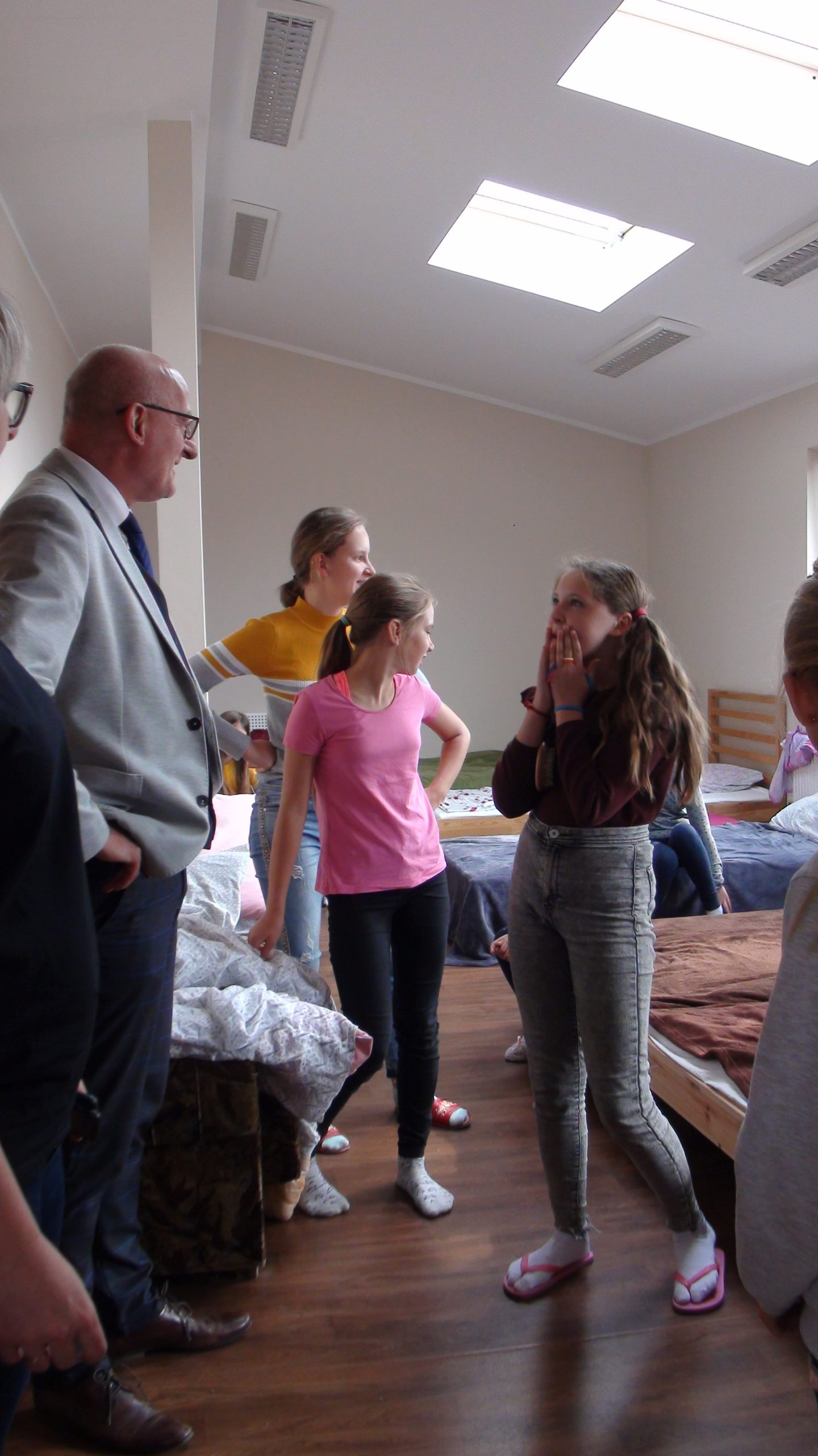 Wizyta Posła Jacka Kurzępy w Schronisku Młodzieżowym w Pszczewie