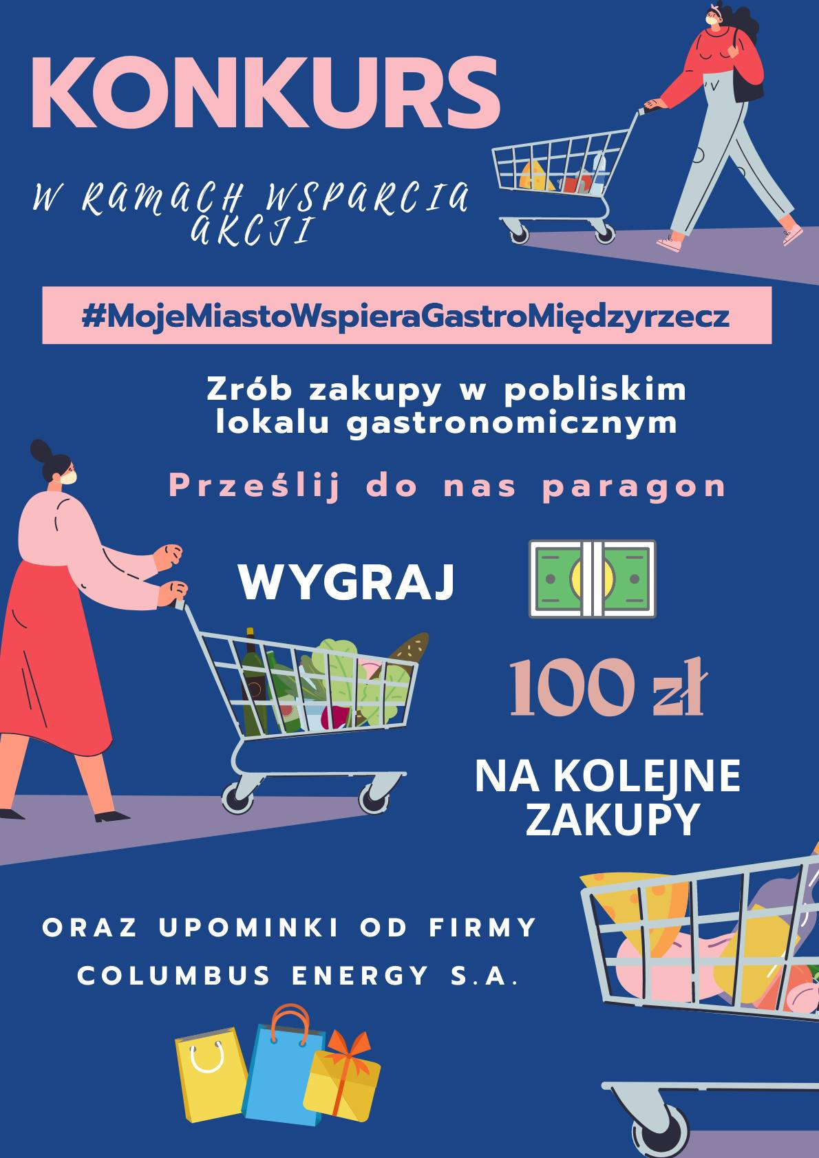 #MojeMiastoWspieraGastroMiędzyrzecz – wygraj w loterii paragonowej 100 zł na ponowne zakupy w lokalu gastronomicznym