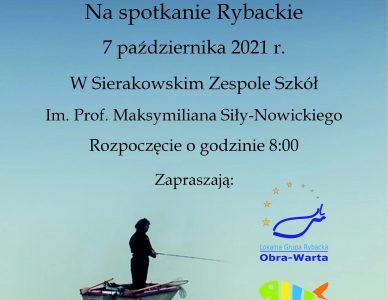 7 października, zaproszenie na spotkanie Rybaków w Sierakowie.